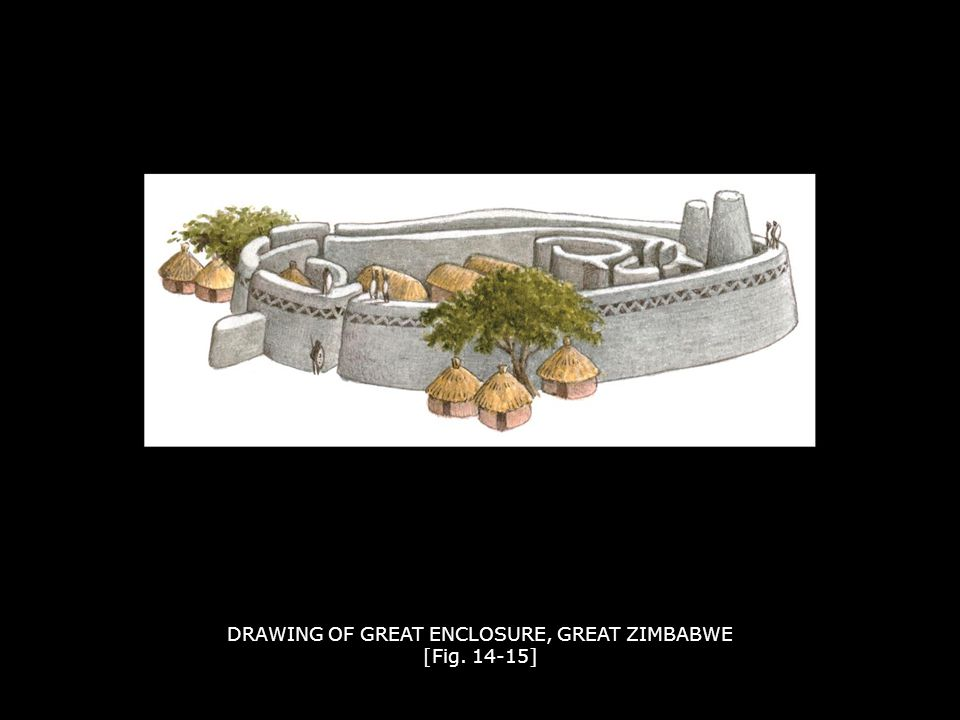 DRAWING OF GREAT ENCLOSURE, GREAT ZIMBABWE [Fig. 14-15]